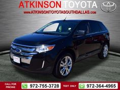 2011 Ford Edge Limited Black $16,888 81461 miles 972-755-3728  #Ford #Edge #used #cars #AtkinsonToyotaSouthDallas #SouthDallas #TX #tapcars