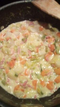 Ragoût de poireaux, pommes de terre, carottes & navets