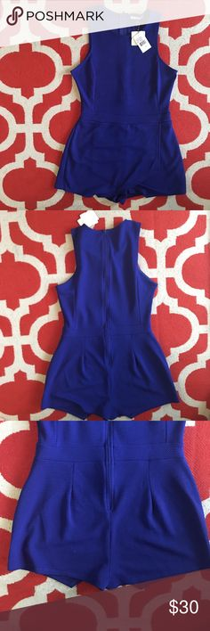 🎉 HP🎉 Royal Blue Sleeveless Romper This is such a gorgeous blue color. It is a romper but as the pictures show, the front looks closer to a skort. 96% Polyester and 4% Spandex. The brand is Soprano which is a Dillards brad. All my clothing comes from a pet free and smoke free home 🏡 Make an offer if you are interested! Please NOTE that the size is a medium!! Soprano Other