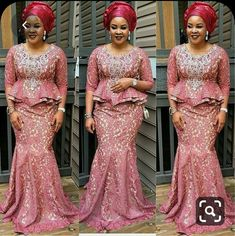 Enchanting aso ebi styles that will inspire you - Opera News Official Nigerian Lace Styles, Aso Ebi Lace Styles, African Lace Styles, Latest Aso Ebi Styles, African Lace Dresses, Latest African Fashion Dresses, Ankara Styles, African Blouses, African Style