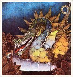 Wayne Anderson (Ratsmagic by Christopher Logue) Fantasy Creatures, Mythical Creatures, Wayne Anderson, Baumgarten, Dragon's Lair, Dragon Images, Beautiful Dragon, Fantasy Illustration, Moon Art