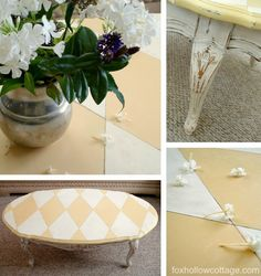 Redo an old table and learn how to get those diamonds centered with this easy tutorial.