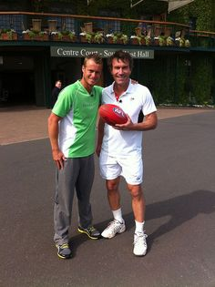 Pat Cash and Lleyton Hewitt.  #tennis #patcash #tennisplayer #sport