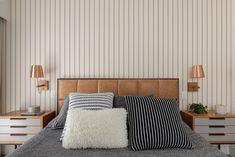 apartamento-Juliana-Muchon17 Meme Design, Decoration, Bedroom Decor, Curtains, Inspirer, Israel, Furniture, Home Decor, Leather Headboard