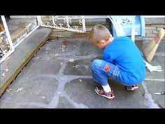 James repairs flagstone/ fieldstone  mortar - Techno style! so simple a child can do it! - YouTube