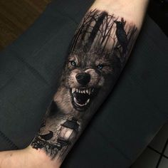 50 Of The Most Beautiful Wolf Tattoo Designs The Internet Has Ever Seen - aweso. - 50 Of The Most Beautiful Wolf Tattoo Designs The Internet Has Ever Seen – awesome wolf tattoo id - Wolf Tattoos Men, Badass Tattoos, Viking Tattoos, Animal Tattoos, Tattoos For Guys, Cool Tattoos, Wolf Tattoo Forearm, Forarm Tattoos, Body Art Tattoos