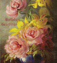 Mary Golay Artist Signed Elegant Vase of Pink by TheOldBarnDoor