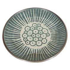 Harrison McIntosh, platter with mishima circles. 1976.  Pinned from PinTo for iPad 
