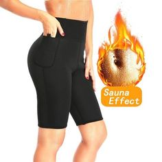 c274a7623df06 NINGMI Slimming Sauna Pant Hot Thermo Neoprene Sweat Capris Fat Burner  Shapewear Fitness Body Shaper Control Panties Weight Loss