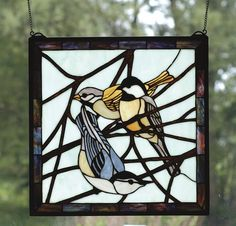 stained glass blue tit coal tit
