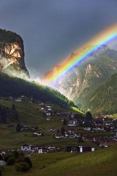 Arcobaleno su Selva di Val Gardena| byEmma Filippini.