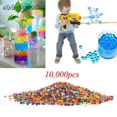 10000 Pcs Soft Crystal Water Paintball Bullet Mix Color Orbeez Gun Toy Growing Water Pearls Gun Accessories Suit For Most Gun #Affiliate