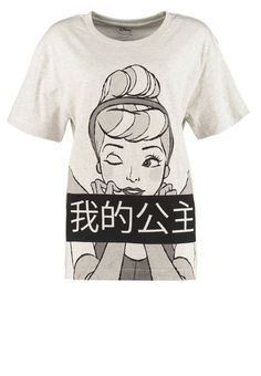 Eleven Paris - DARIEL - T-Shirt print - melange light grey
