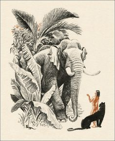 The Jungle Book by Rudyard Kipling. Mowgli. Illustrator Sergey Artyushenko, 1986.