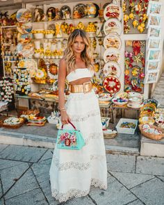 Travel italy outfits spring street styles 29 Ideas for 2019 White Fashion, Boho Fashion, Fashion Dresses, Fashion Details, Fall Travel Outfit, Italy Outfits, Estilo Boho, Spring Street Style, Looks Style