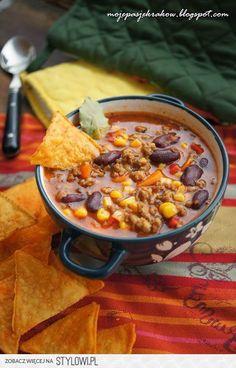 Zupa meksykańska  1 kg mięsa mielonego  2 marchewki  2…