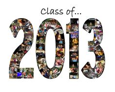 Class of 2013 Customized Photo Collage Graduation Poster Class Teacher Coach Gift - All Sizes. $18.00, via Etsy.