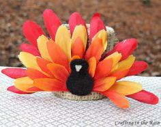 Flower Turkeys for #Thanksgiving