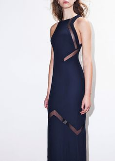Galvan Cut Out Dress Midnight