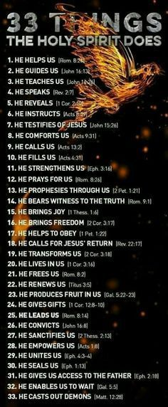 Things the Holy Spirit does...