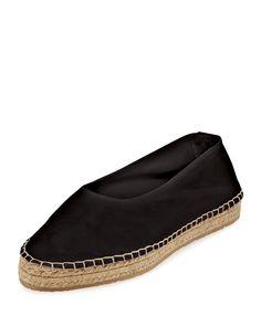 Manon Leather Espadrille Flat, Black, Women's, Size: 39.5B/9.5B - Loeffler Randall