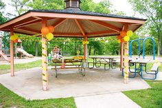 Outdoor construction party at a park