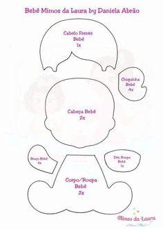 FETRogolik (Korean felt and accessories) Quiet Book Patterns, Felt Patterns, Baby Patterns, Baby Shower Pin, Shower Bebe, Bear Felt, Felt Baby, Doll Sewing Patterns, Paper Piecing Patterns