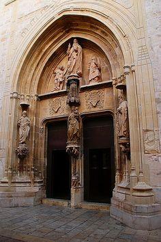 Gandia, Pórtico de la Colegiata, Valencia Spain
