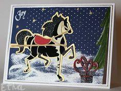 Winter Woodland (Horse & Tree), Christmas Cheer (Present)