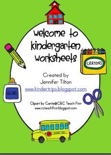 kindertrips: Welcome to Kindergarten Worksheets-Free
