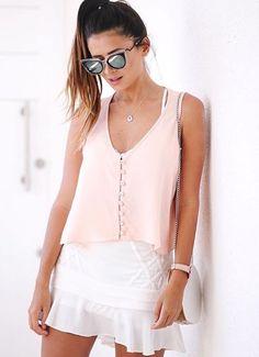 White Shorts, Basic Tank Top, Street Style, Tank Tops, Stylish, Casual Summer, Street Fashion, Women, Instagram