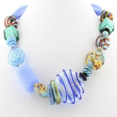 Shades of Blue Murano Glass Necklace - Real Chic Boutique  - 2