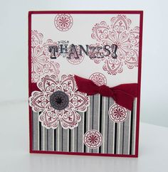 Stampin Up Beautiful Cards  photo  great ide to use christmas chevron paper and make thank you cards
