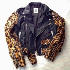#jackets #leopard #leopardprintjackets #black #leopardprint #unif #unifclothing #outerwear #leather #cute #fashion