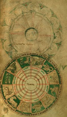 Saint Bede the Venerable, Saint Isidore of Sevilla, Saint Abbo of Fleury. Cosmography, Walters MS W73. 1100s.