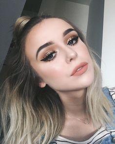 cute makeup – Hair and beauty tips, tricks and tutorials Glam Makeup, Makeup Inspo, Makeup Inspiration, Beauty Makeup, Eye Makeup, Hair Makeup, Hair Beauty, Makeup Ideas, Selfies