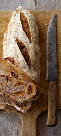 Fig, Walnut, and Anise Sourdough Bread.
