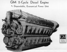 Have long been fascinated with the GM 2 stroke cycle diesel. Jet Engine, Steam Engine, Diesel Engine, Locomotive Engine, Diesel Locomotive, Engine Working, Automotive Engineering, Railroad History, Detroit Diesel