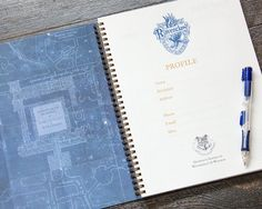 Harry Potter Planner Ravenclaw / Thick / Large by Ruskerville (I need this!)