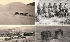 How the Wild West REALLY looked: Gorgeous sepia-tinted pictures show the landscape as it was charted for the very first time