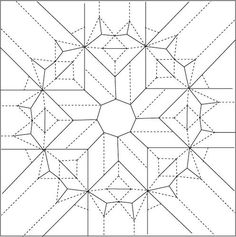octagonal star twist draft crease pattern