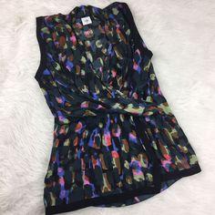 Cabi Womens Size Medium Flaunt Wrap Sleeveless Blouse Style # 3077 Multicolor  | eBay