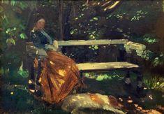 Titre de l'image : Michael Peter <b>Ancher</b> - <b>Anna Ancher , In the Garden</b>