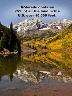 colorado contains 75% of all the land in the U.S. over 10,000