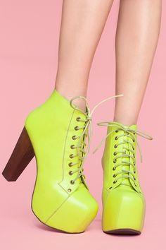 Lita Platform Boot - Neon Yellow $170.00 #nastygal #minkpink