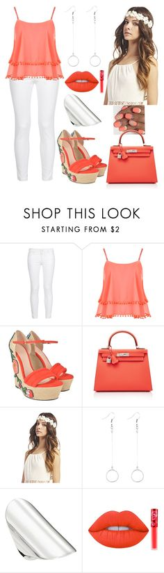 """""""Should've known your love was a game,Now I can't get you out of my brain... - Charlie Puth"""" by paoladouka on Polyvore featuring STELLA McCARTNEY, WearAll, Gucci, Hermès, Wet Seal, Thomas Sabo and Lime Crime"""