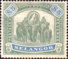 Selangor 1895 Elephants Fine Mint SG 64 Scott 39 Other Selangor Stamps HERE