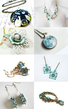 Teal, white and gold by Jantra K on Etsy--Pinned with TreasuryPin.com