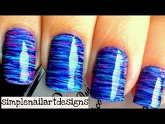 #nails Fan Brush Nail Art   I'm so trying this with pinks and purples (I think)