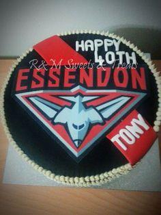 Essendon Bombers AFL Fan Cake